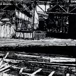 Ruiny, 2000, linoryt Kč 5.200,-