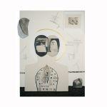 Dualita, 2014, 90 x 118 cm, koláž, Kč 60.000,-