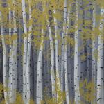 Březový háj, 145 x 120cm, 2013, Kč 53.000,-