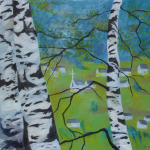 Břízy, 110 x 110cm, 2009, Kč 33.000,-