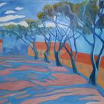 Stíny borovic, 100 x 80cm, 2011, Kč 29.000,-