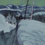 Zima, 100 x 100cm, 2010, Kč 31.000,-