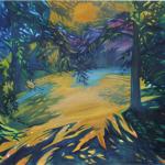 Podvečer v zahradě, 110 x 90cm, 2014, Kč 37.000,-