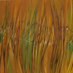 Tygr v trávě, 110 x 90cm, 2014, Kč 43.000,-