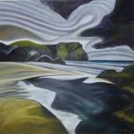 Bretaňské pobřeží, 110 x 110cm, 2007, Kč 36.000,-
