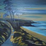 Pláž Goen, 75 x 60cm, 2014, Kč 27.000,-